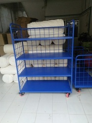 Silver Mild Steel Trolley