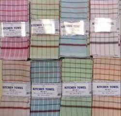 Srinath Check NON TERRY KITCHEN TOWELS, Wash Type: 40 Degrees, 50 Grams Per Pc