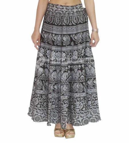 b54e2915f7 Long Cotton Black And White Women Rapron Skirt Summer Beach Dress In ...