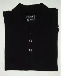 Men's Black Collar T-Shirt