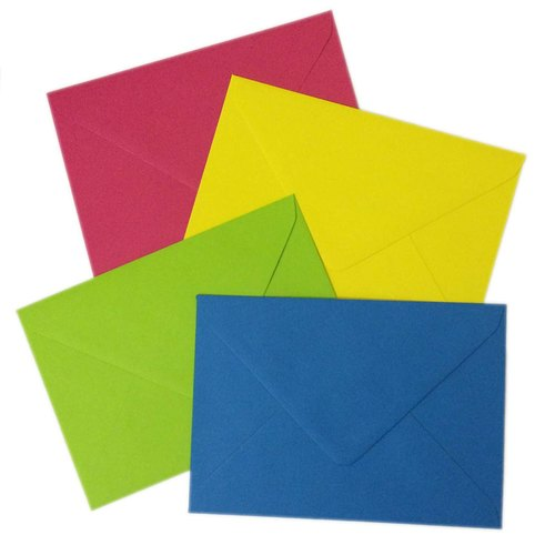 Paper Colored Envelopes, Size: 9 X 4 INCH, Rectangular