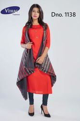 Rayon Kurti With Jacket