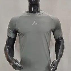 Tshirt For Men Solid Mens jordan T Shirts, Age Group: 15-45