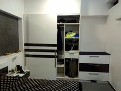 Pee Cee Interiors Green And White Modular Kitchen Wardrobe Rs 800