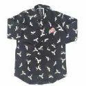 Regular Wear Full Sleeves Kids Printed Cotton Shirt