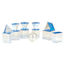Transparent 3D Solid Set 5cm