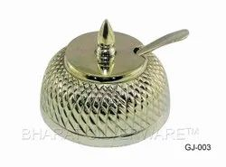 Pure Silver Nagas Ghee Jadi With Spoon