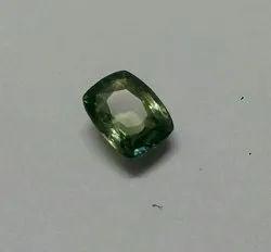 Green Cushion Cut 4 Carat Pitambari Sapphire Gemstone