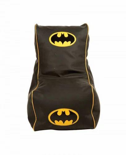 Astonishing Faux Leather Batman Design Bean Chair Download Free Architecture Designs Scobabritishbridgeorg