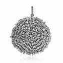 Baguette Diamonds Silver Pendant