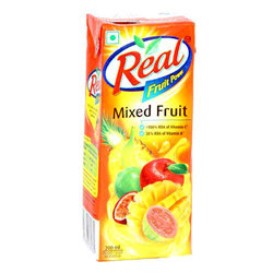 Real Juice 200 ML, Packaging Type: Boxes, Packaging: Carton