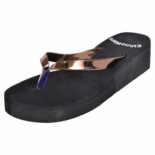 e85fe1d2cdb0a Ethnoware Daily Wear Women Copper Rubber Slippers, Size: 36 To 40 ...