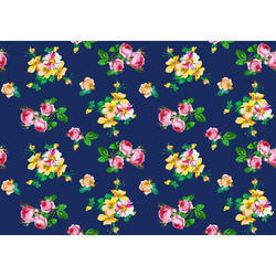 Blue Organic Cotton Printed Fabric, for garments industry use