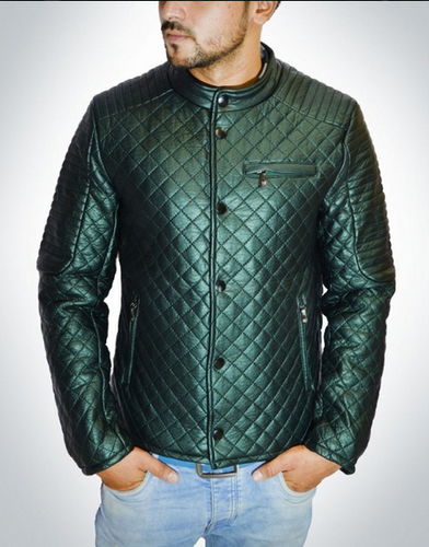 buy popular 67315 4f999 Leather Green Zara Design Men Winter Jacket