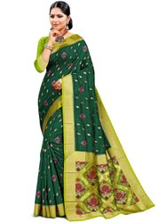 Adorable Art Silk Saree With Blouse By Parvati Fabric (21772)