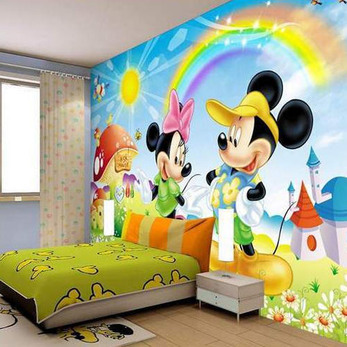 Use Childen S Room Wallpaper To Add Oodles Of Character: PVC Kids Room Wallpaper, Rs 35 /square Feet, Shree Mann