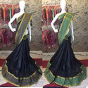 Party Wear Lace Border, Woven  Cotton Silk Saree
