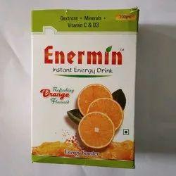 Enermin Orange Flavor Energy Drink, 200gm, Packaging Type: Box