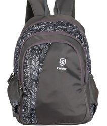 Black Leaf Print Pencil Pouch Backpack