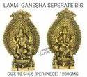 Gold Plated Laxmi Ganesh Statue