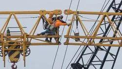 Dismantling of Tower crane