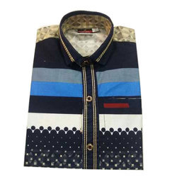 SD Cotton Collar Printed Shirt