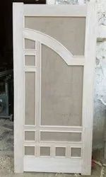 White Modern Wood Hinged Door, Thickness: 37mm, Size: 84x39 Inch