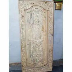 Exterior Hinged Teak Wood Carving Door