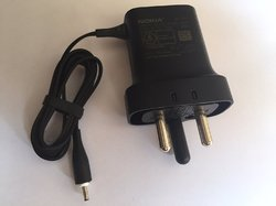 Black Nokia Ac 11n 3 Pin Charger For Fast Charging