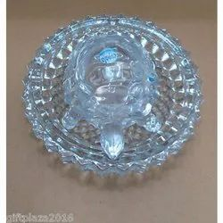 Crystal Tortoise with Plate / Feng Shui