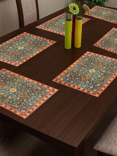 Stitchnest Cotton Canvas Printed Indian Ethnic Table Mats At Rs