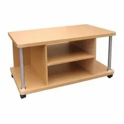 Brown Wood Wooden TV Trolley, Features: Termite Free