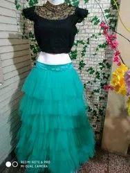 Designer Crop Top Dress