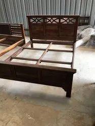 Woodit Furniture Sheesham Wooden Bed, Size: King Size