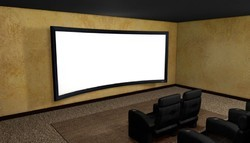 Curved Fixed Frame Projection Screen