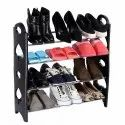 Shoe Rack 4 Tier Stack-Able Portable Shoe Rack Organizer