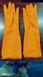 Polyurethane Brown Industrial Gloves, Size: 12 to 16
