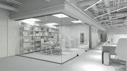 Plain Glasses Glass Partition, For Office & Commercial, Shape: Flat