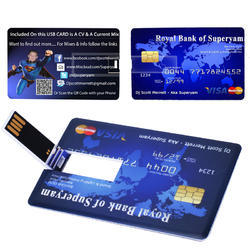Glossy High Quality Credit Card Pen Drive