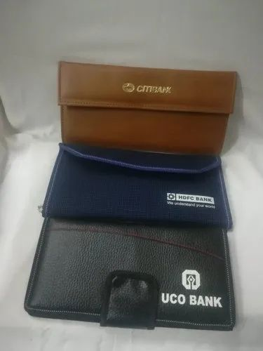 Leather Cash Book Holder Wallet