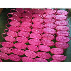 Plain Pink Palm Leaf Gift Basket, 500 Gm