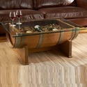 Wine Barrel Central Table