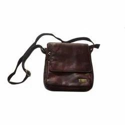 Adjustable Leather Brown Side Bag