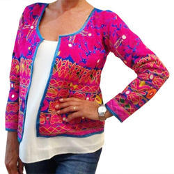 Embroidered Multicolor Ladies Traditional Jacket