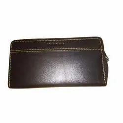 Brown Ladies Leather Clutch, Rectangular