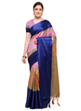 Katan Silk Border Patta Work Sarees