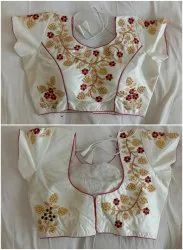 Silk Embroidered Designer Ready Made Party Wear Blouse