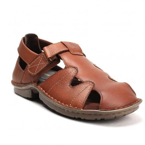 f7d1880e0cb9 Men Brown Leather Sandals