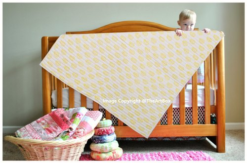 Lightweight Soft Organic Cotton Swaddles Baby Blankets Indian Kantha Quilt