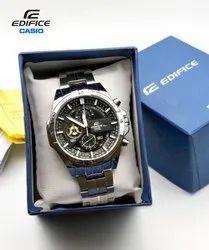 Mens Silver New Casio Edifice Chronograph
